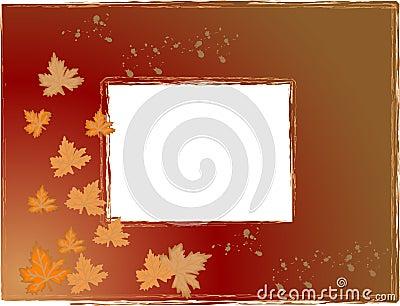 Blocco per grafici della foto di autunno