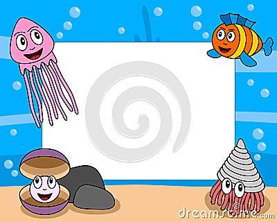 Blocco per grafici della foto di vita di mare [4]