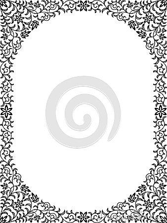 Blocco per grafici floreale dell annata