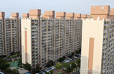 Block of flats in South Korea