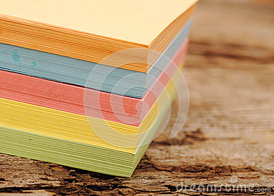 Block of post-it notes
