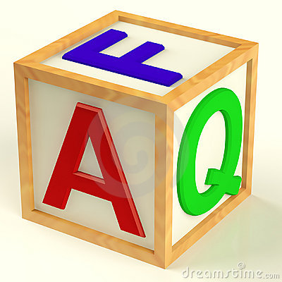 Block Spelling FAQ As Symbol for Answers