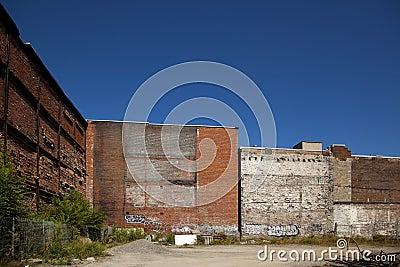 block wall with brick
