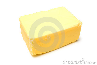 Block of yellow butter