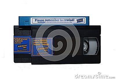 Blockbuster Video Cassettes Editorial Photo