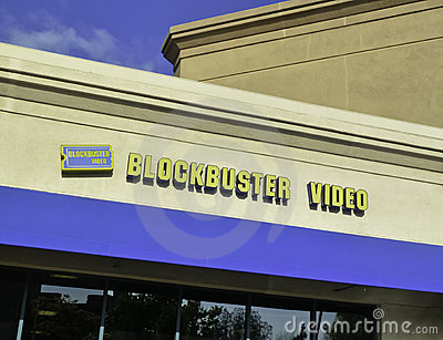 Blockbuster Video Store Editorial Stock Photo