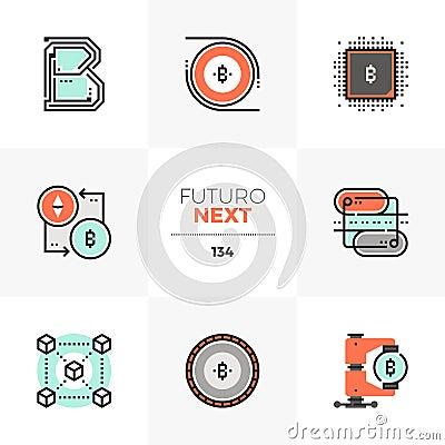 Free Blockchain Technology Futuro Next Icons Royalty Free Stock Photography - 122198437