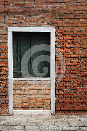 Blocked door by wall