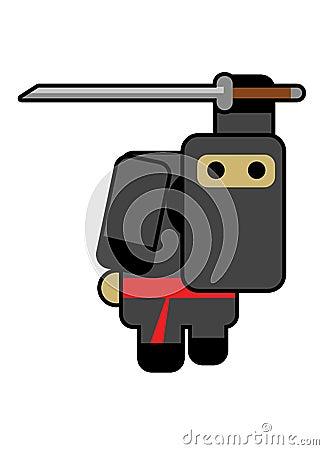 Blockhead ninja