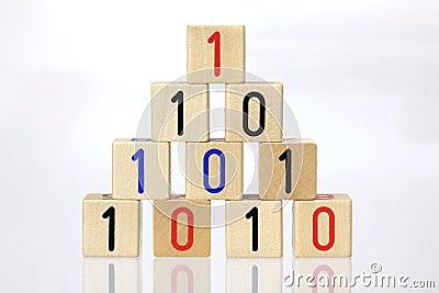 Blocks with binary code