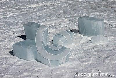 Blocks Of Ice Stock Photo Image 44294007