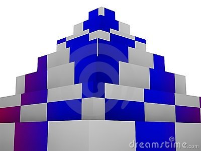 Blocks pyramid