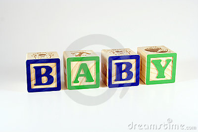 Blocks that spell baby