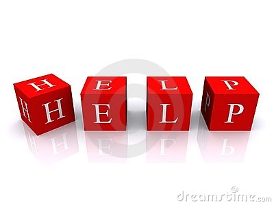 Blocks spell HELP