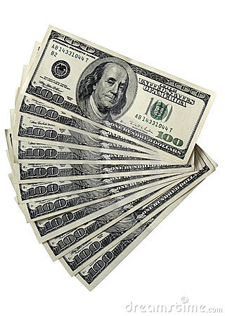 Bloco contas de 100 de dólar