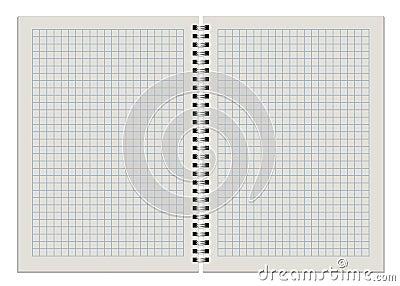 Bloco de notas checkered vazio