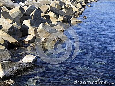 Blocos do quebra-mar