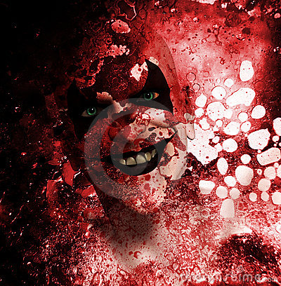 Bloda ner att grina för clown