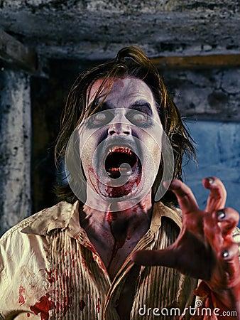 Bloedige zombie
