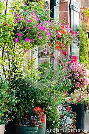 Bloemen buiten een huis stock foto afbeelding 39970126 - Huis van kind buiten ...