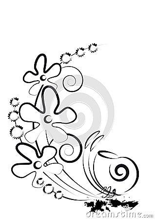 Bloemen en slak