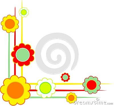 Bloemen hoeken