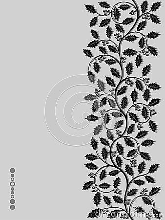 Bloemen patroon met ilex