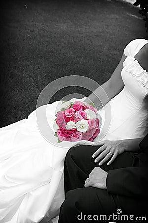 Bloemen van de bruid