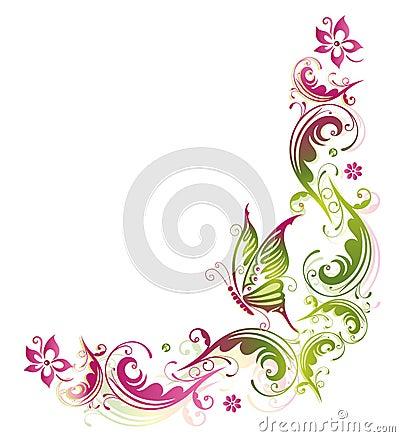 bloemen vlinder stock afbeeldingen beeld 33649544. Black Bedroom Furniture Sets. Home Design Ideas