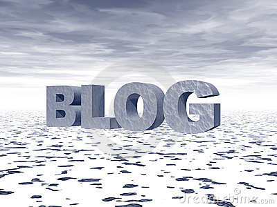 Blog Editorial Stock Photo