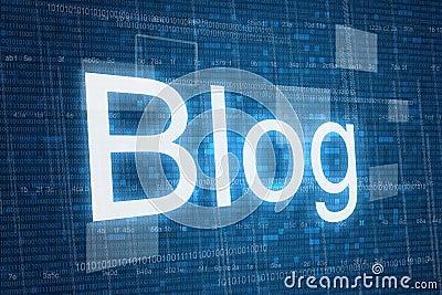 Blog on digital background