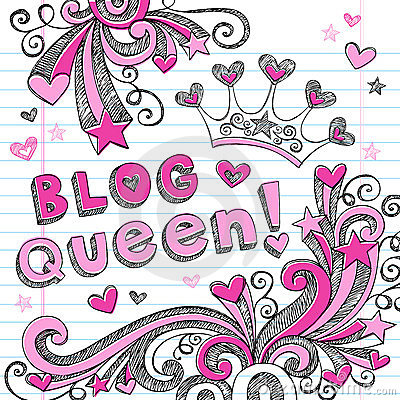 Blog Queen Sketchy Doodle Web Icon Design