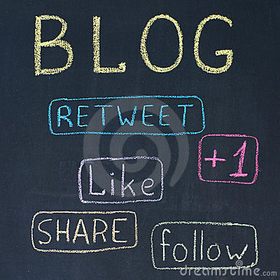 Blog and Share Buttons