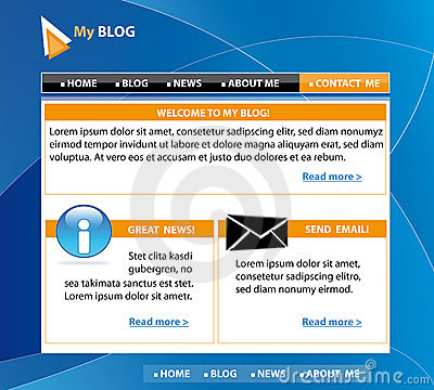 Blog template design