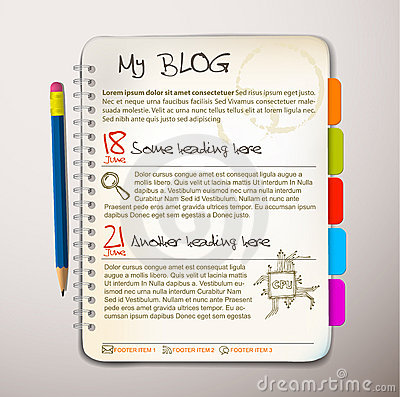 Free Blog Web Site Template Stock Image - 18723581