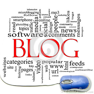 Blog Word Cloud and Mouse