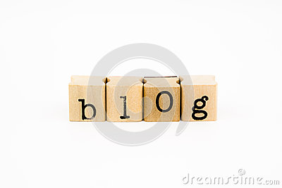 Blog wording isolate on white background