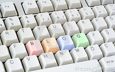 Blog written in computer keyboard