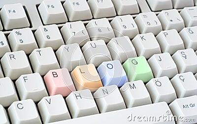 Blog written in computer keyboard
