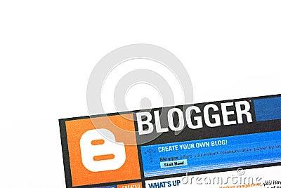 Blogger Editorial Stock Photo