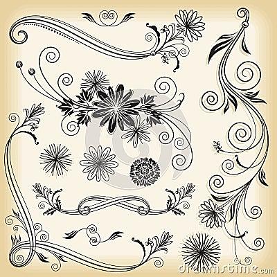 Blom- dekorativa element