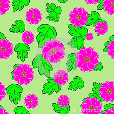 Blommar sömlös bakgrund