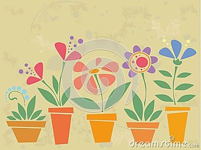 Blommar tappning