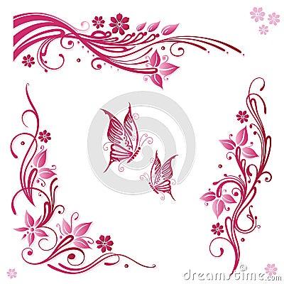 Blommor rosa färger, sommar