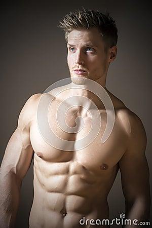 Blond athletic man