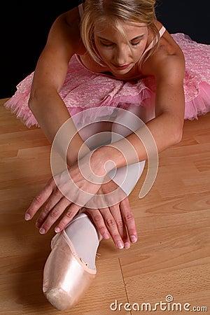 Blond ballet stretch