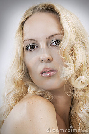 Free Blond Beautiful Sexual Woman Face Royalty Free Stock Images - 20547769