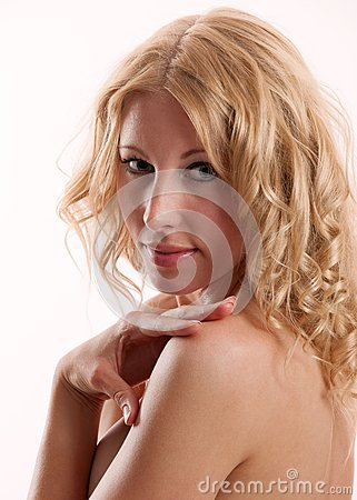 Blond beautiful woman with great hair