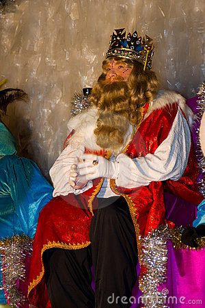 Blond Biblical Magi King Editorial Photography