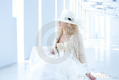 Blond Fashion Woman With Eighteenth Century Corset Royalty Free Stock Photography - Image: 23309577